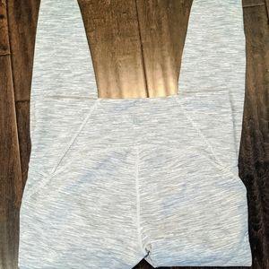 Grey / White Lululemon Leggings with Mesh